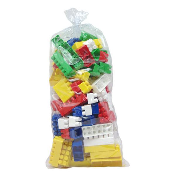 Конструктор Каролина-М большой 96 элементовбольшой 96 элементовДетский блочный конструктор развивает мелкую моторику рук, пространственное мышление и цветовосприятие.   Упаковка из ПВХ содержит 96 деталей 3-х различных размеров.<br>