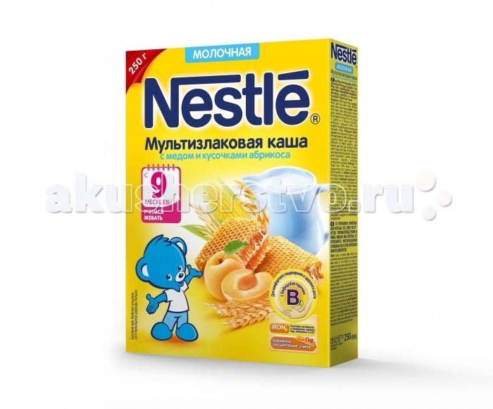 Nestle Молочная Мультизлаковая каша с медом и кусочками абрикоса с 9 мес. 250 г