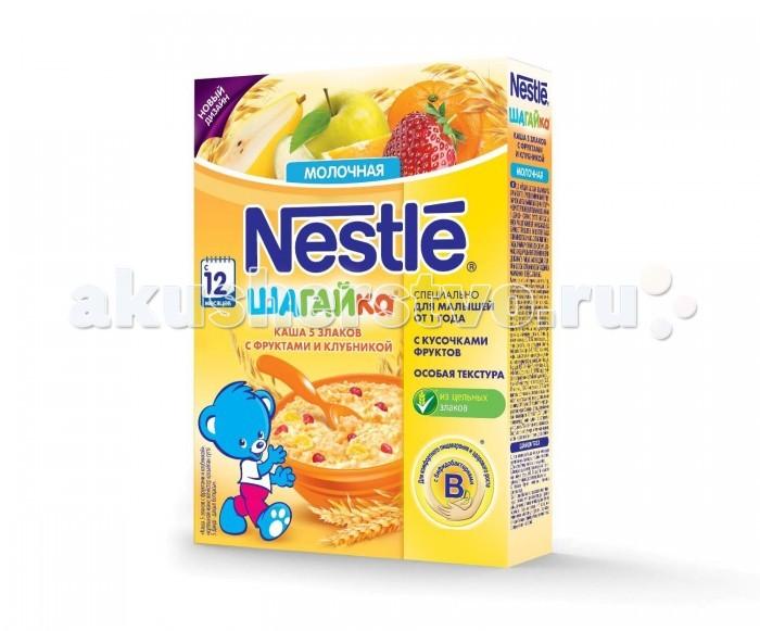 Nestle Каша Шагайка 5 злаков с фруктами и клубникой с 12 мес. 200 г