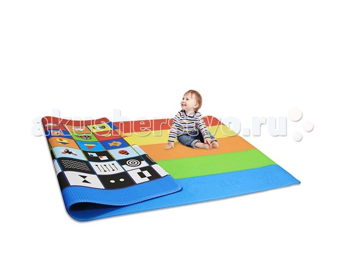 Игровой коврик Dwinguler Sense PlayMat 230x140x1.5 смSense PlayMat 230x140x1.5 смКоврик Dwinguler Sense создан для развития чувствительности вашего ребенка. Коврик помогает повышать моторику и чувствительность, что позволяет развивать умственные способности.  На одной поверхности коврика Sense расположены тесненные изображения различных животных, которые хорошо различимы на ощупь. Dwinguler Sense стимулирует любопытство и развивает воображение, когда ребенок читает различные текстуры на коврике с помощью своих рук. А так же помогает малышам развивать мелкую моторику при касании коврика, и перемещении рук и пальцев.  На другой стороне коврика расположены различные картинки для зрительного восприятия. Зрение является основным органом для развития других органов чувств и очень важно для развития интеллекта. Количество получаемой зрительной информации около 80%, и это имеет большое значение при обучении чувства цвета в раннем детстве, когда зрительная способность формируется.  Дизайн коврика выполнен целенаправленно на развитие зрения на ступенях роста ребенка.  Игровой коврик отлично подходит для детей всех возрастов: Дети от рождения до 9 месяцев: Во время периода ползания защищает запястья и коленки ребенка от ударов об пол. Мягкая поверхность. Дети от 9 месяцев до 2-х лет: Во время первых попыток ходить самостоятельно защищает ребенка от ушибов в случае падения. Не скользит. Дети от 2-х лет до 4-х лет: Знакомит детей с буквами и цифрами, способствует развитию воображения. Легко моется. Дети от 4-х лет до 8-х лет: Позволяет вовлечь в игру несколько детей одновременно. Поглощает шум. Известен как экологически чистый бренд, который помогает развивать у детей воображение, учить первые слова и буквы легко и весело, обеспечивая оптимальное игровое пространство для детей. Детский игровой развивающий коврик идеален для использования: в спальне; в гостиной; в любых местах для игры, как в Вашем доме, так и вне дома; в детской комнате; в детском саду; в музыкальном классе; в с