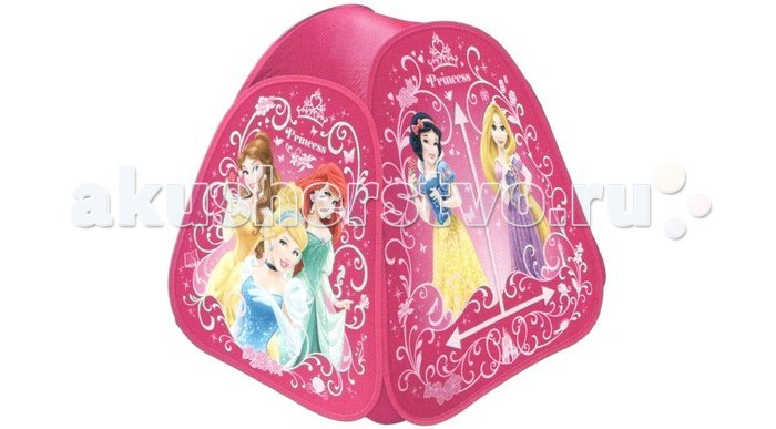 Играем вместе Принцессы, в сумкеПринцессы, в сумкеИгровая палатка Играем вместе Принцессы подходит для игры в помещении или на улице в летнее время года.   Игровая палатка с изображением очаровательной принцессы станет одним из любимейших мест для игр вашей девочки! Удобная упаковка-сумочка обеспечивает удобство хранения. Благодаря тому, что дверка чудесного домика закрывается с помощью липучки, вашей малышке будет очень удобно заходить в палатку.  Размер палатки: 81х91х81 см<br>