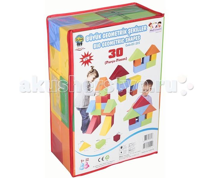 Конструктор Pilsan Геометрические фигуры 30 деталейГеометрические фигуры 30 деталейПредназначен для детей от 1 года. 30 деталей. Способствует умственному развитию. Увлекательный и развивающий. Развивает воображение и креативность ребенка. Подходит для групповых игр. Безопасные для здоровья ребенка материал и краска<br>