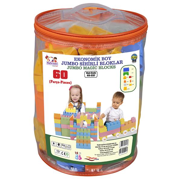 Конструктор Pilsan Economic Jambo Magic Blocs (60 элементов)Economic Jambo Magic Blocs (60 элементов)Предназначен для детей от 1 года. 60 деталей. Способствует умственному развитию. Увлекательный и развивающий. Развивает воображение и креативность ребенка. Подходит для групповых игр. Безопасные для здоровья ребенка материал и краска<br>