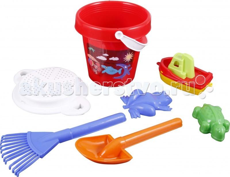 Pilsan Песочный набор (5 изделий в ведре)Песочный набор (5 изделий в ведре)Этот чудесный набор можно использовать для игр с песком во дворе, в парке, на пляже, у воды.  Игрушка отлично развивает логическое мышление и стимулирует воображение.  Набор для игры в песочницы из 5 предметов, для детей от 3 до 8 лет.<br>