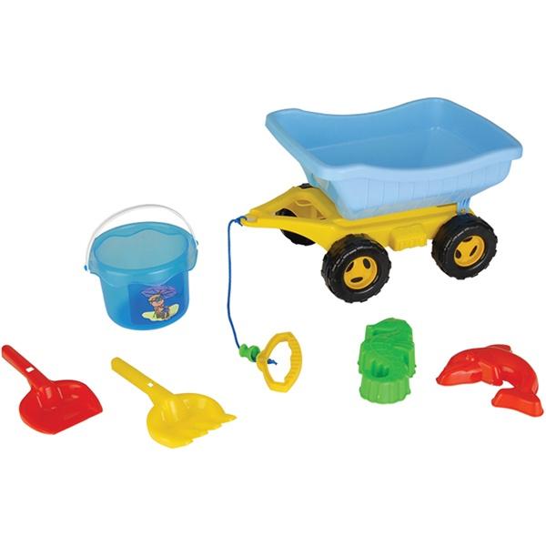 Pilsan Песочный набор (5 изделий в тачке)Песочный набор (5 изделий в тачке)Этот чудесный набор можно использовать для игр с песком во дворе, в парке, на пляже, у воды.  Игрушка отлично развивает логическое мышление и стимулирует воображение.  Набор для игры в песочницы из 6 предметов, для детей от 3 до 8 лет.<br>