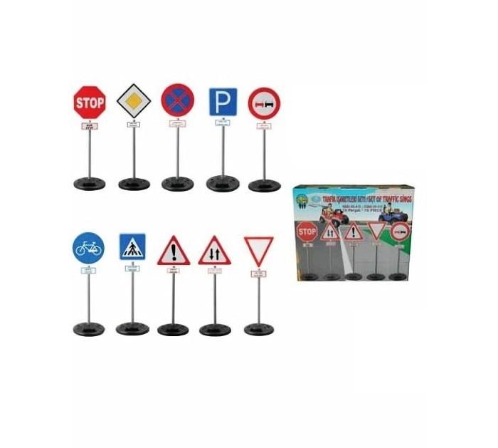 Pilsan Дорожные знаки миниДорожные знаки миниДорожные знаки Pilsan мини - поможет малышу выучить основные знаки дорожного движения и научиться этике на дороге.   Играя с дорожными знаками родители смогут пояснить деткам правила дорожного движения и рассказать, как правильно переходить дорогу.   Игрушка позволит ребенку научиться безопасности на дорогах, а также разовьет воображение и поможет придумать много интересных игр с участием машинок и знаков.  Компания Pilsan начала свою историю в 1942 году. Сегодня – это компания-гигант индустрии крупногабаритных детских игрушек, которая экспортирует свою продукцию в 57 стран мира. Компанией выпускается 146 наименований продукции – аккумуляторные и педальные автомобили, велосипеды, развивающие игрушки и аксессуары для детей. Вся продукция Pilsan сертифицирована и отвечает международным стандартам качества.<br>