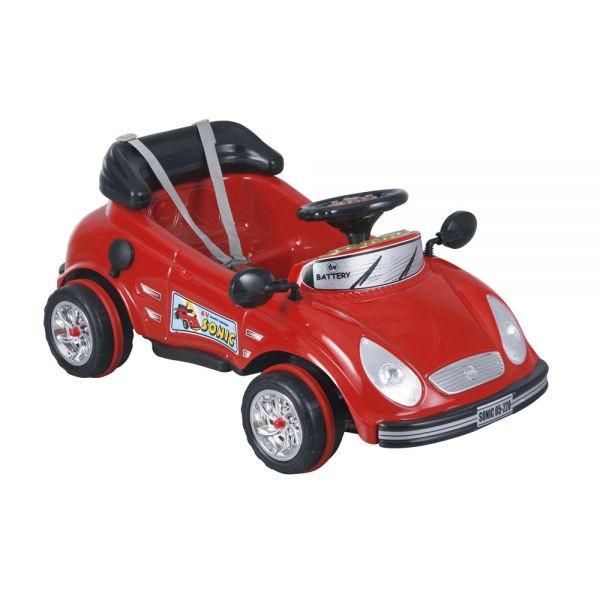 Электромобиль Pilsan Sonic на радиоуправленииSonic на радиоуправленииУправляя этим автомобилем, Ваш ребенок с самого раннего детства приобретет навыки уверенного вождения. Ведь это фактически настоящий автомобиль, только маленький и безопасный.   Музыкальный сигнал (6 звуков) Аккумулятор 6V 4.5 Ah Колеса с бесшумным покрытием Рычаг переключения Вперед/Назад Удобное сидение со спинкой и ремнем безопасности Двигатель 1X6V с задним расположением  Для детей от 2-6 лет  Пульт радиоуправления для родителей Зеркала заднего вида Наличие плавкого предохранителя Педаль газа/тормоза Передние фары  Максимальная скорость 3.5 км/ч Максимальная грузоподъемность 25 кг  Цвета в ассортименте.   Размер машинки - 60х101х58.5 см.  Компания Pilsan начала свою историю в 1942 году. Сегодня – это компания-гигант индустрии крупногабаритных детских игрушек, которая экспортирует свою продукцию в 57 стран мира. Компанией выпускается 146 наименований продукции – аккумуляторные и педальные автомобили, велосипеды, развивающие игрушки и аксессуары для детей. Вся продукция Pilsan сертифицирована и отвечает международным стандартам качества.<br>