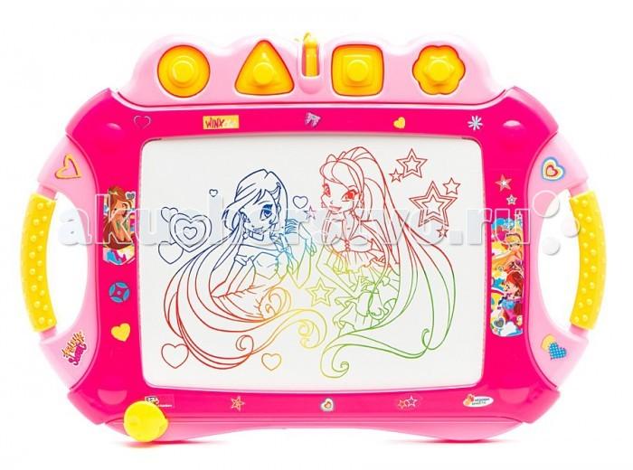 Играем вместе Доска для рисования WINX с подсветкойДоска для рисования WINX с подсветкойДоска для рисования Играем вместе WINX с подсветкой станет отличным развлечением для вашей девочки.   В комплекте есть много интересных элементов, которые позволят интересно провести время и развлечься в любых обстоятельствах. Даже в темноте она сможет рисовать, потому что у доски есть подсветка. Эта деталь делает игрушку еще более интересной и привлекательной.<br>