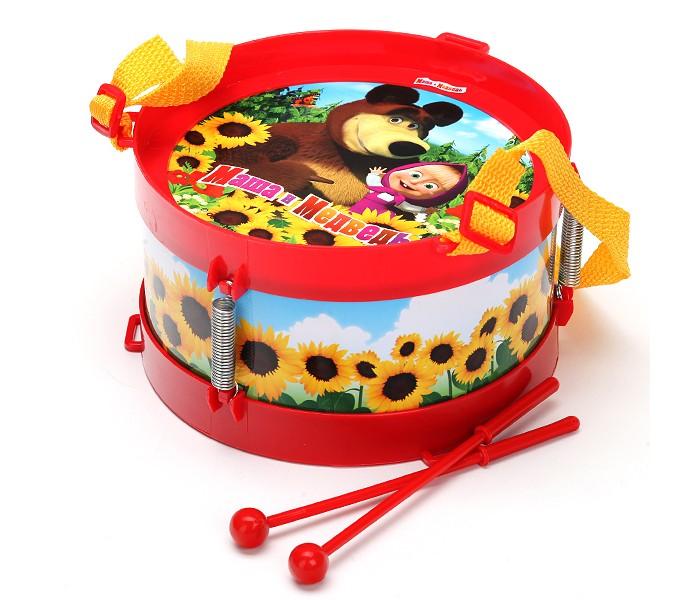 Музыкальная игрушка Играем вместе Барабан Маша и медведьБарабан Маша и медведьБарабан Играем вместе Маша и медведь - яркий инструмент для веселых игр вашего малыша. Инструмент выполнен в виде барабана с изображением Маши и медведя.<br>