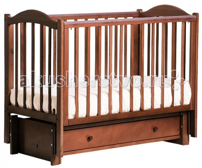 Детская кроватка Кубаньлесстрой БИ 38.3 Кубаночка-2 маятник продольный