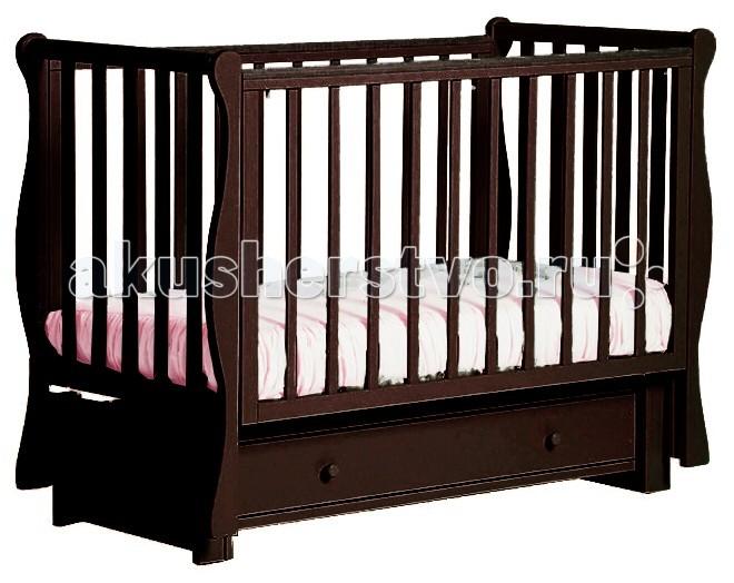 Детская кроватка Кубаньлесстрой БИ 40.3 Кубаночка-4 маятник продольный