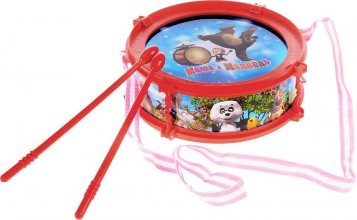Музыкальная игрушка Играем вместе Барабан Маша и медведь со светом