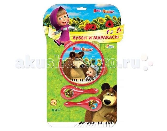 Музыкальная игрушка Играем вместе Бубен и маракасы Маша и медведь