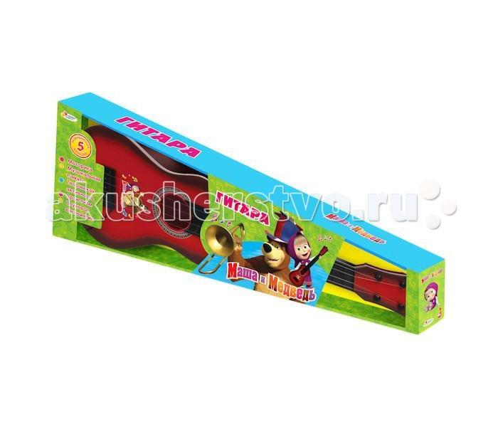 Музыкальная игрушка Играем вместе Гитара Маша и медведь классическая