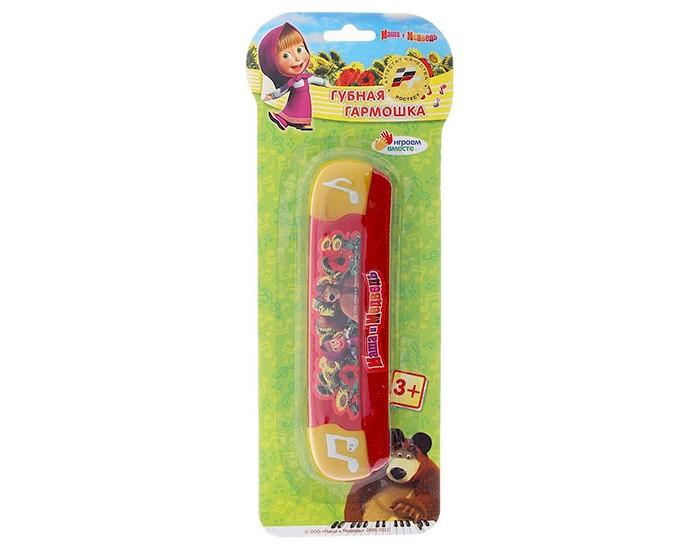 Музыкальная игрушка Играем вместе Губная гармошка Маша и медведь