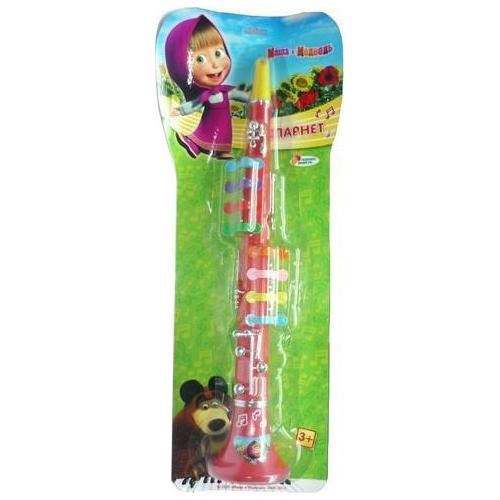 Музыкальная игрушка Играем вместе Кларнет Маша и медведьКларнет Маша и медведьКларнет Играем вместе Маша и медведь - выполнен в яркой цветовой гамме из высококачественных материалов. Яркий музыкальный инструмент с разноцветными кнопочками понравится любому малышу. Этот игрушка способствует развитию слуха, чувства ритма вашего ребенка.<br>