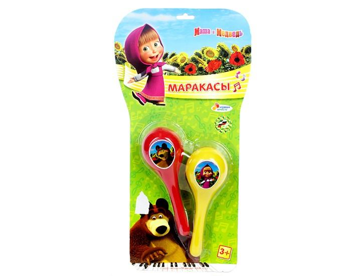 Музыкальная игрушка Играем вместе Маракасы Маша и медведьМаракасы Маша и медведьМаракасы Играем вместе Маша и медведь - это веселая музыкальная игрушка для малышей. Внутри пластмассовых контейнеров мелкие горошины, которые создают шумящий звук. Играть таким инструментом сможет даже годовалый ребенок.   Музыкальная игрушка способствует развитию слуха и чувства ритма.<br>