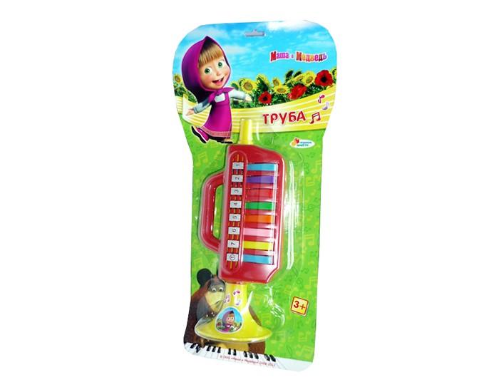 Музыкальная игрушка Играем вместе Труба Маша и медведьТруба Маша и медведьТруба Играем вместе Маша и медведь - это яркий музыкальный инструмент для детей в возрасте от 3-х лет.   Данная модель имеет 8 клавиш, с помощью которых можно воспроизводить захватывающие ритмы. Инструмент изготовлен из высококачественных материалов.<br>