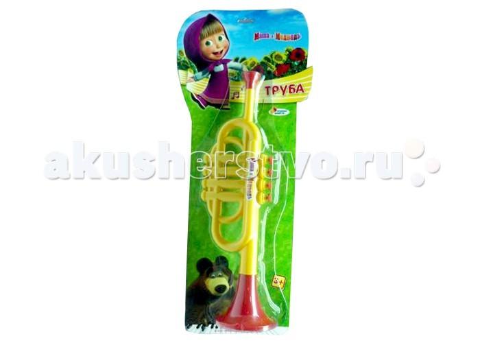 Музыкальная игрушка Играем вместе Труба Маша и медведь