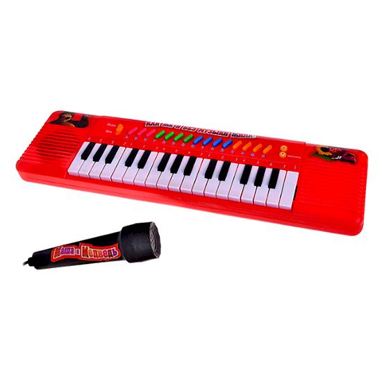 Музыкальная игрушка Играем вместе Электроорган Маша и медведь с микрофоном
