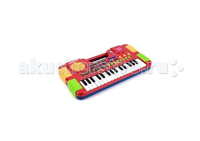 Музыкальная игрушка Играем вместе Электроорган Маша и медведь со светом