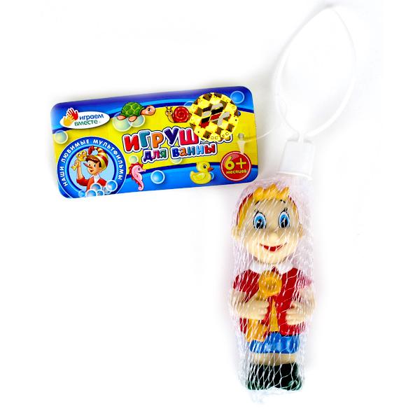 Играем вместе Игрушка для ванной БуратиноИгрушка для ванной БуратиноИгрушка для купания Играем вместе Буратино непременно понравится вашему ребенку и превратит купание в веселую игру!   Игрушки выполнены из безопасного ПВХ.  Если сжать игрушки, раздастся веселый писк.  Оригинальный стиль и великолепное качество исполнения делают этот набор чудесным подарком к любому празднику, а жизнерадостные образы представят такой подарок в самом лучшем свете.<br>