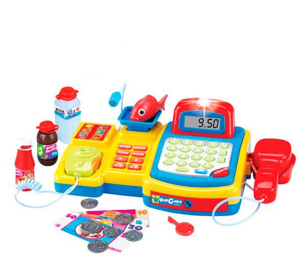 Фиксики Касса-магазин GT8217Касса-магазин GT8217Фиксики Касса-магазин с 6 функциями и 16 предметами.  Девочки с удовольствием станут маленькими продавцами. Благодаря таким игрушкам дети готовятся к будущей жизни. Работает с помощью батареек.   Для игры в этом наборе предусмотрено все : есть касса, набор продуктов и даже деньги.<br>