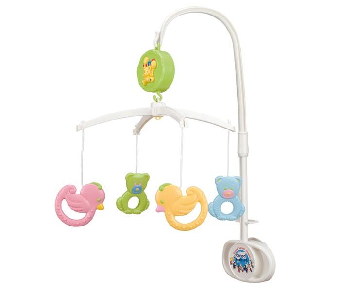 Мобиль Canpol Мишки и утки 2/517Мишки и утки 2/517Музыкальная игрушка карусель Мишки и утки Canpol 2/517.   Музыкальная карусель крепится на кроватку.  Красочные пластиковые игрушки-погремушки привлекают внимание ребенка, развивают его зрение и координацию движений.  Приятная мелодия музыкальной шкатулки успокаивает ребенка и помогает ему заснуть.   Карусель легко содержать в чистоте. Идеально подходит малышам, страдающих аллергией.<br>