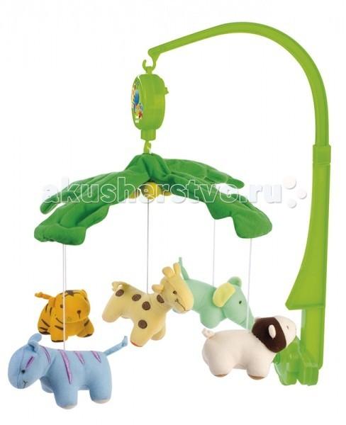Мобиль Canpol Веселый зоопарк 2/350Веселый зоопарк 2/350Музыкальная игрушка карусель Веселый зоопарк Canpol 2/350.   Музыкальная карусель крепится на кроватку.  Красочные и мягкие плюшевые игрушки привлекают внимание ребенка, развивают его зрение и координацию движений.  Приятная мелодия музыкальной шкатулки успокаивает ребенка и помогает ему заснуть.   Вы можете отсоединить любимые фигурки и дать их малышу. Стирать согласно инструкции.<br>