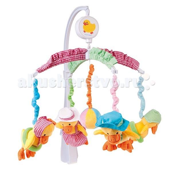 Мобиль Canpol Веселые утки 2/316Веселые утки 2/316Музыкальная игрушка карусель Веселые утки Canpol 2/316.   Музыкальная карусель крепится на кроватку.  Красочные и мягкие плюшевые игрушки привлекают внимание ребенка, развивают его зрение и координацию движений.  Приятная мелодия музыкальной шкатулки успокаивает ребенка и помогает ему заснуть.   Вы можете отсоединить любимые фигурки и дать их малышу. Стирать согласно инструкции.<br>