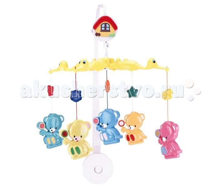 Мобиль Canpol Мишки с леденцами 2/971Мишки с леденцами 2/971Музыкальная игрушка карусель Мишки с леденцами Canpol 2/971.  Музыкальная карусель крепится на кроватку.  Красочные пластиковые игрушки-погремушки привлекают внимание ребенка, развивают его зрение и координацию движений.  Приятная мелодия музыкальной шкатулки успокаивает ребенка и помогает ему заснуть.   Карусель легко содержать в чистоте. Идеально подходит малышам, страдающих аллергией.<br>
