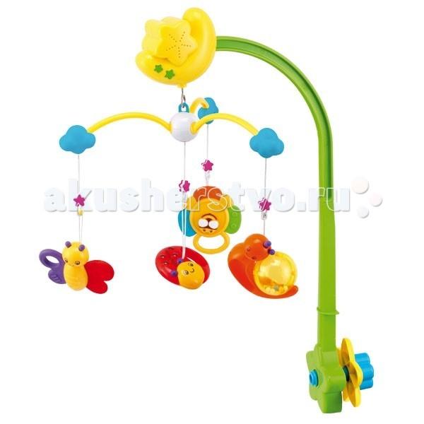 Мобиль Canpol Весенняя поляна 9/932Весенняя поляна 9/932Музыкальная игрушка карусель Весенняя поляна Canpol 9/932.  Музыкальная карусель крепится на кроватку.  Красочные пластиковые игрушки-погремушки привлекают внимание ребенка, развивают его зрение и координацию движений.  Приятная мелодия музыкальной шкатулки успокаивает ребенка и помогает ему заснуть.   Карусель легко содержать в чистоте. Идеально подходит малышам, страдающих аллергией.<br>