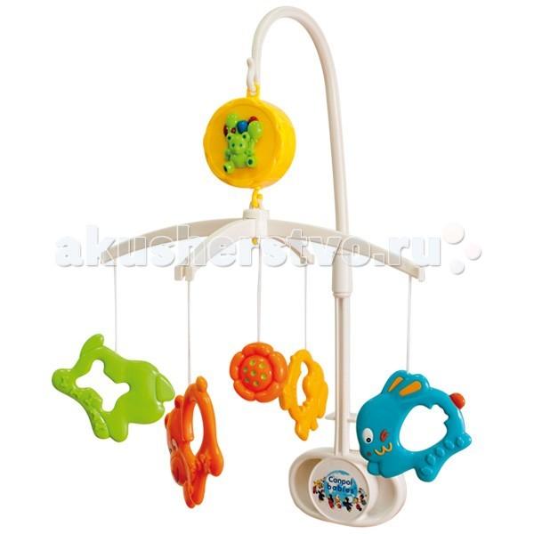 Мобиль Canpol Забавные зверята 2/552Забавные зверята 2/552Музыкальная игрушка карусель Забавные зверята Canpol 2/552.  Музыкальная карусель крепится на кроватку.  Красочные пластиковые игрушки-погремушки привлекают внимание ребенка, развивают его зрение и координацию движений.  Приятная мелодия музыкальной шкатулки успокаивает ребенка и помогает ему заснуть.   Карусель легко содержать в чистоте. Идеально подходит малышам, страдающих аллергией.<br>