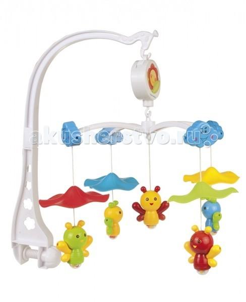 Мобиль Canpol Пчелки с зонтиком 75/002Пчелки с зонтиком 75/002Музыкальная игрушка карусель Пчелки с зонтиком Canpol 75/002.  Музыкальная карусель крепится на кроватку.  Красочные пластиковые игрушки-погремушки привлекают внимание ребенка, развивают его зрение и координацию движений.  Приятная мелодия музыкальной шкатулки успокаивает ребенка и помогает ему заснуть.   Карусель легко содержать в чистоте. Идеально подходит малышам, страдающих аллергией.<br>