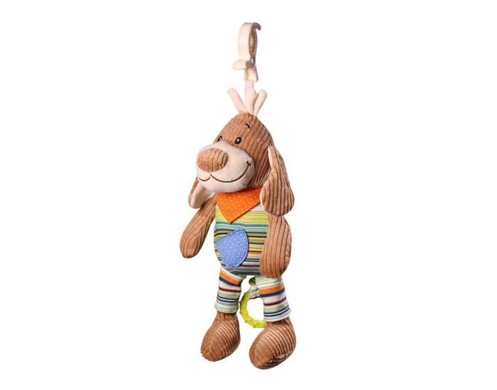Подвесная игрушка BabyOno Музыкальная игрушка - Собачка (вельвет)