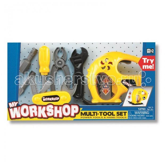 Keenway Набор инструментов 12763Набор инструментов 12763Набор инструментов (электрорубанок, отвертка, инфтрументы) – лучший выбор для мальчика.  Набор инструментов (электрорубанок, отвертка, инфтрументы) – один из лучших подарков для юного мастера. Мальчики всегда испытывают нежную любовь к папиным инструментам, к которым им родители не подпускают. И собственные игровые наборы реалистичных инструментов являются для них самыми желанными.   В набор от Keenway входят отвертка с несколькими насадками, менять которые кроха сможет самостоятельно, разводной ключ, плоскогубцы, инструмент рубанок 3 в 1 и электрорубанок.   Электрорубанок оснащен специальными эффектами – он крутится как настоящий и при этом издает характерные звуки работающего инструмента при нажатии на рычаг, что придает игре реалистичность.  Игры с набором позволяют ребенку получить первые навыки в работе с инструментами. Занимаясь с ним, малыш будет тренировать мелкую моторику и логическое мышление, увеличивает свой кругозор и расширяет словарный запас. А совместные игры на тему ремонта помогут укреплению связи между отцом и сыном.  Такие игрушки для мальчиков подойдут для ребенка от 3 лет.  Для работы электрорубанка потребуется 2 батарейки типа АА, которые находятся в комплекте.   Продукция сертифицирована, экологически безопасна для ребенка, использованные красители не токсичны и гипоаллергенны.<br>
