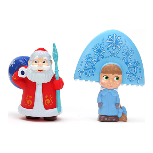 Играем вместе Набор для ванной Маша-снегурочка и дед Мороз