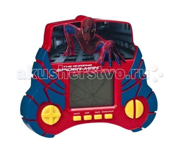IMC toys Marvel Электронная игра 550872 с жк экраном Spider-manMarvel Электронная игра 550872 с жк экраном Spider-manIMC toys Marvel Электронная игра 550872 с жк экраном Spider-man - создана по мотивам любимого детского мультфильма Spider-man.   Это отличный выбор для мальчика, который любит мультик Человек-паук.   Данная модель раскрашена в яркие цвета, имеет LCD-монитор (который безопасен для зрения Вашего малыша) и звуковые эффекты.  Тип батареи:2 х LR6 (AA), 1,5 В.<br>