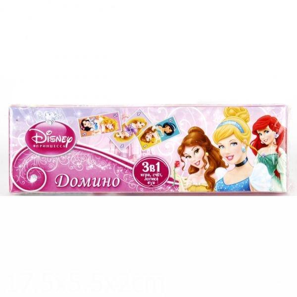 Умка Домино пластмассовое 3 в 1 Принцессы