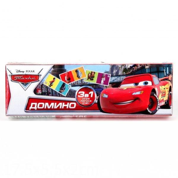 Умка Домино пластмассовое 3 в 1 ТачкиДомино пластмассовое 3 в 1 ТачкиВсеми любимая игра Домино в новом формате!   Изучайте цифры, развивайте логику и конечно играйте с героями любимых мультфильмов.<br>
