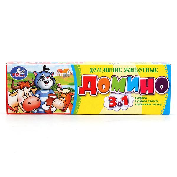 Умка Домино пластмассовое 3 в 1 Простоквашино