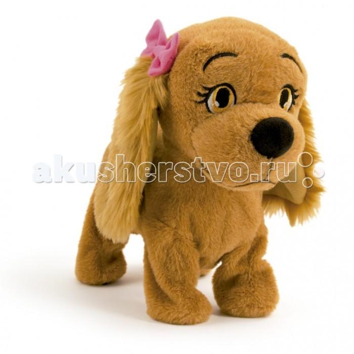 Интерактивная игрушка IMC toys Собака  ЛюсиСобака  ЛюсиIMC toys Собака Люси - невероятно милый и симпатичный щенок с очень дружелюбным и весёлым нравом. Шерстка у Люси коричневого цвета, на ушках - милые розовые заколки.   Команды:  голос и она залает  танцуй - ляжет на пол и будет танцевать  сидеть - Люси сядет  поцелуй меня и она встанет и будет прыгать вперед, чтобы поцеловать тебя  ищи - начнет нюхать землю  привет - Люси радостно залает стоять - выполнит команду стоять на голову - Люси сделает стойку на передних лапах  дай лапу - Люси встанет, и будет двигать передними лапами  вверх - Люси встанет на задние лапы  лежать - Люси выполнит команду лежать.  Объяснить ребенку, как нужно ухаживать за домашним животным, Вам поможет эта замечательная собака, которая наверняка станет любимым другом малыша.<br>