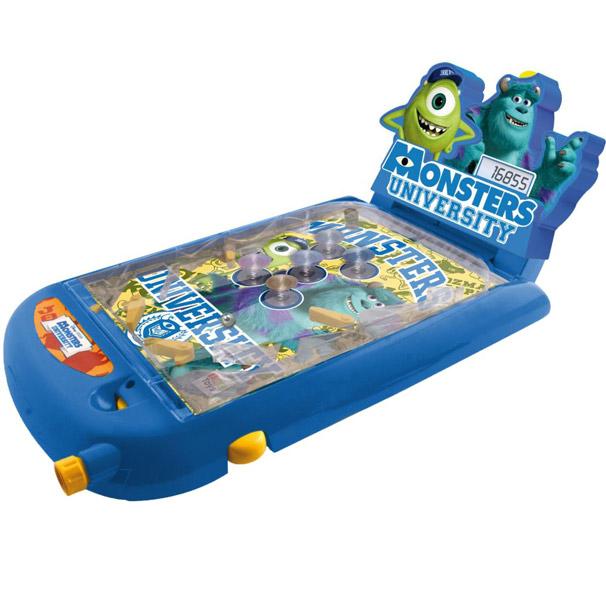 IMC toys Disney Пинбол Monster UniversityDisney Пинбол Monster UniversityIMC toys Disney Пинбол Monster University - отличная возможность организовать настоящее соревнование по пинболу на обычном столе. С таким игровым набором ребята смогут увлекательно провести время вместе.   Игра автоматически подсчитывает очки и выводит их на электронном табло.<br>