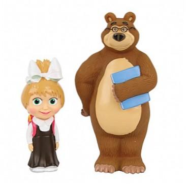 Маша и Медведь Фигурки Маша-школьница с Мишкой