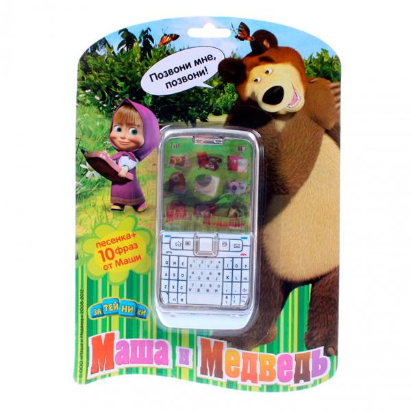Электронные игрушки Маша и Медведь Телефон GT5738