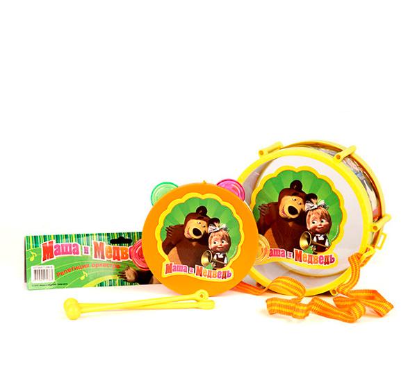 Музыкальные игрушки Маша и Медведь Набор Барабан и бубен
