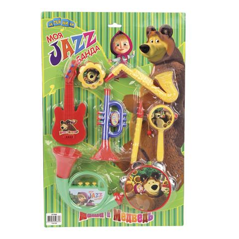 Музыкальная игрушка Маша и Медведь Набор музыкальных инструментов GT7646Набор музыкальных инструментов GT7646Музыкальная игрушка Маша и Медведь Набор музыкальных инструментов - это увлекательные игрушки для детей старше 3-х лет.  Особенности: Он выполнен в яркой цветовой гамме из высококачественных материалов, которые не навредят вашему ребенку.  Инструменты украшены изображением героев известного мультфильма «Маша и Медведь».  Игрушка поможет развить у ребенка слуховое и цветовое восприятие, моторику рук и память..<br>
