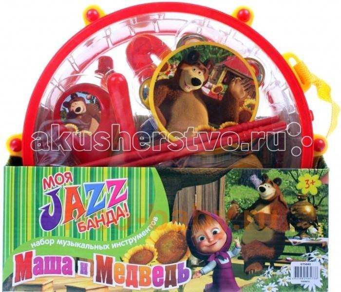 Музыкальная игрушка Маша и Медведь Набор музыкальных инструментов GT5680