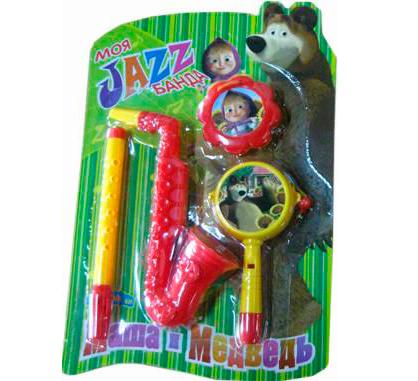 Музыкальная игрушка Маша и Медведь Набор музыкальных инструментов GT5844