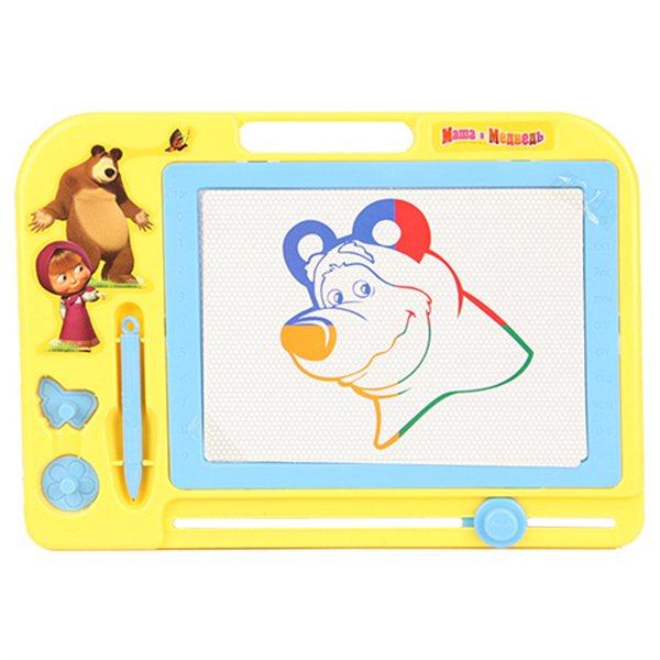 Маша и Медведь Доска для рисования GT7521Доска для рисования GT7521Маша и Медведь Доска для рисования с трафаретами и счетами - чудо-приспособление для рисования, которое порадует своей компактностью и дизайном и родителей, и детей.   Доска имеет поверхность, идеально подходящую для рисования полученный рисунок можно оставить, а можно стереть встроенным ластиком.<br>